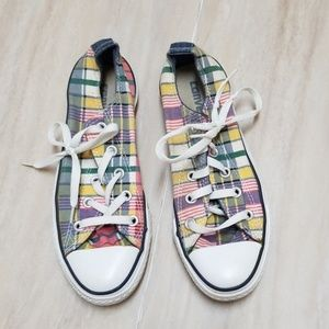Unisex Plaid All Star Low Top Converse M 4 W 6